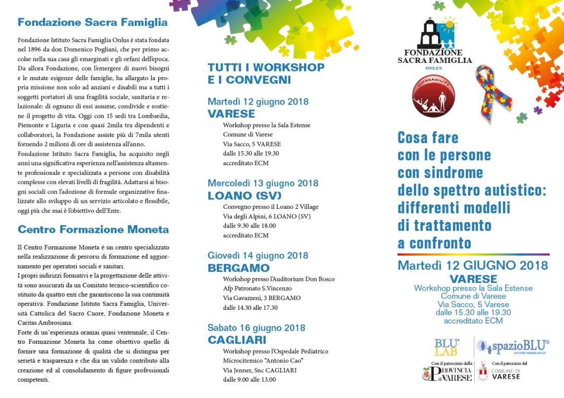 Workshop Autismo @Varese - SOLD OUT
