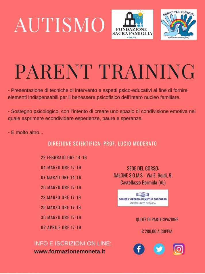 PARENT TRAINING - CASTELLAZZO BORMIDA